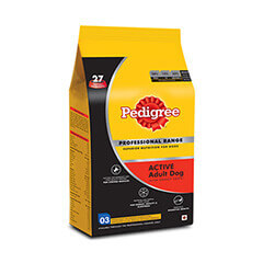 Pedigree Professional Active Adult Premium Dog Food- 3 KG