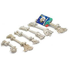 Aspen/Booda Corporation Booda 2 Knot Rope Bone White Colossal