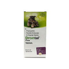 Drontal Plus Tablets for Dogs 10 Tablets
