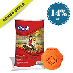 Drools Optimum Performance for Adult Dog Food, 20 kg + JW Pet Chew Toys
