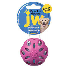 JW Crackle Heads Crackle Ball Small Pack Assorted
