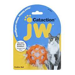 JW Pet Company Cataction Feather Ball, Cat Toy