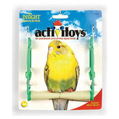 JW Pet Company Insight Double Mirror Swing Bird Toy