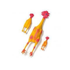 Karlie Chicken Dog Toy Latex 6 inch Small