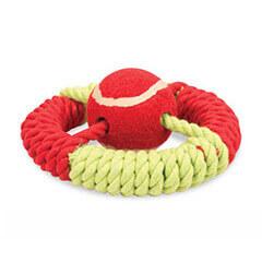 Pet Brands Marine Captions Wheel Rope Dog Toy