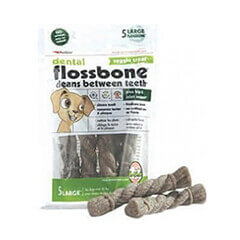 Petkin Dental Flossbone Veggie Treat Large