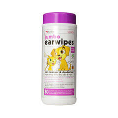 Petkin Jumbo Earwipes, 80-Count