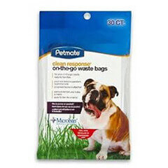 Petmate 30 Count Clean Response On-The-Go Handle-Tie Waste Bags