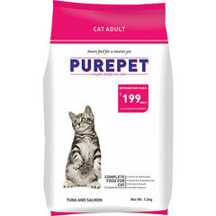 Purepet Tuna And Salmon Cat Adult Food 1.2kg