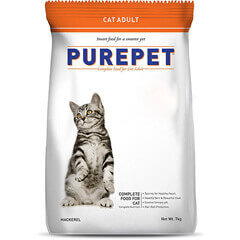 Purepet Mackerel Adult Cat Food 1.2kg