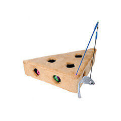 Trixie Cat's Cheese With Playing Rod And 3 Toy Balls 36 x 8 x 26 cm
