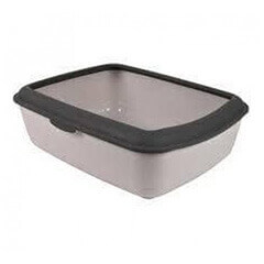 Trixie Classic Cat Litter Tray with Rim (Light Grey/Dark Grey)