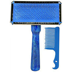 Trixie Dog/Cat Slicker Brush with Free Brush Cleaner