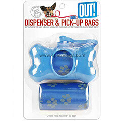 Trixie OUT! Blue Bone Dispenser with Waste Pick-Up Bags