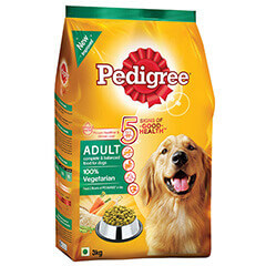 Pedigree Adult Dog Food Vegetarian- 3 KG