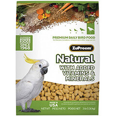 ZuPreem Natural With added Vitamins & Minerals Large 1.36 Kg