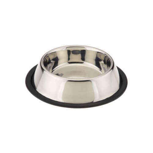 steel dog bowl