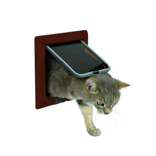 Trixie 4-Way Cat Flap (Brown)
