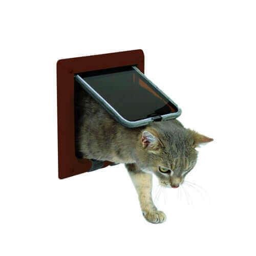Trixie 4-Way Cat Flap (Brown)