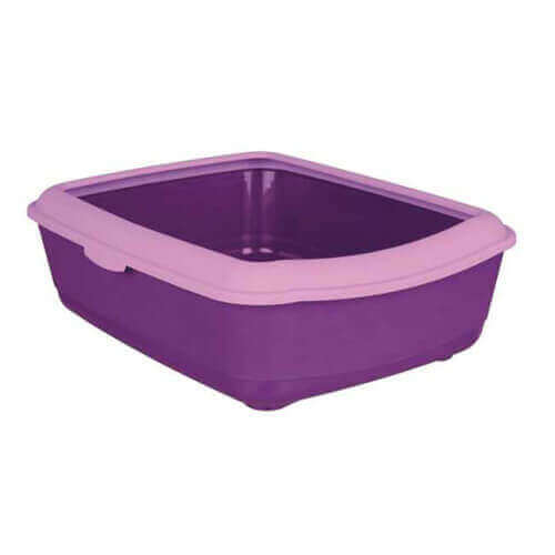 Trixie Classic Cat Litter Tray With Rim Purple/Lilac