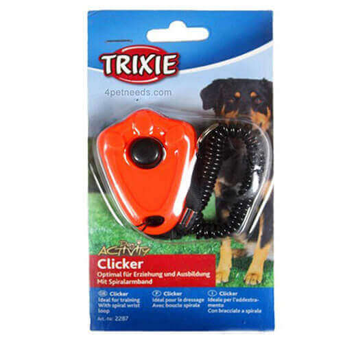 Trixie Clicker with Spiral Wrist Loop (Colors May Vary)