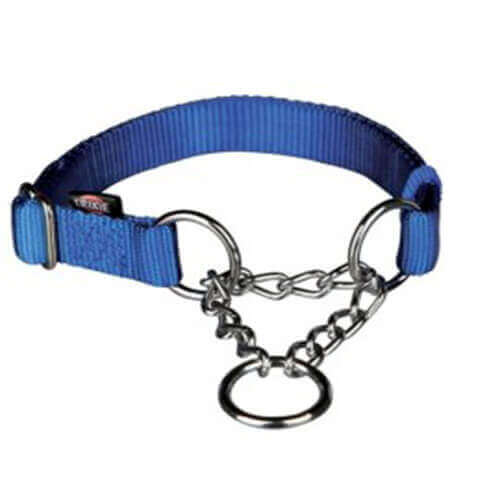 Trixie Premium Choke blue L-XL:17.5