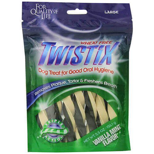 Twistix Dental Chews for Pets with Vanilla Mint Flavor, Large