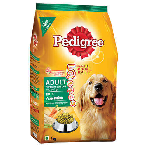Pedigree Adult Dog Food Vegetarian 3 kg Pack