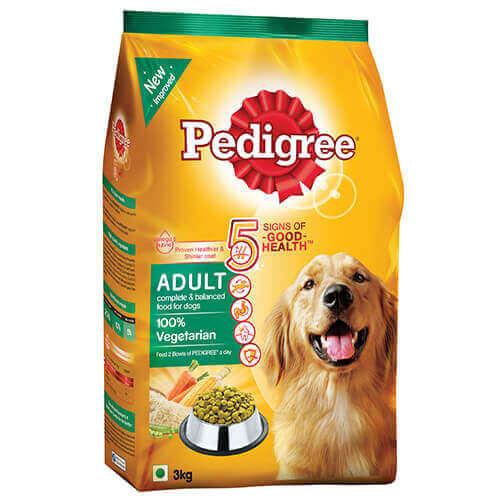 Pedigree Adult Dog Food Vegetarian 3 kg Pack