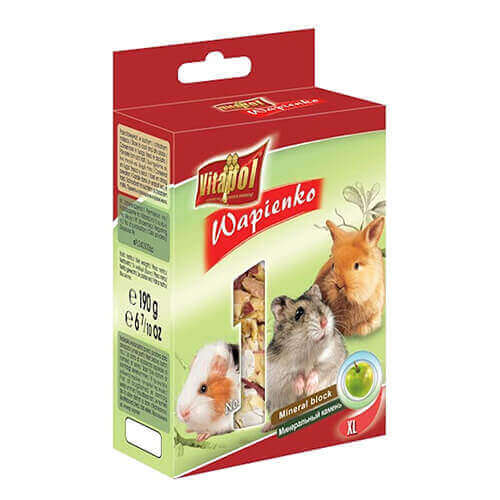 Vitapol Xl Mineral Block For Rodents - Apple - 190 Gm