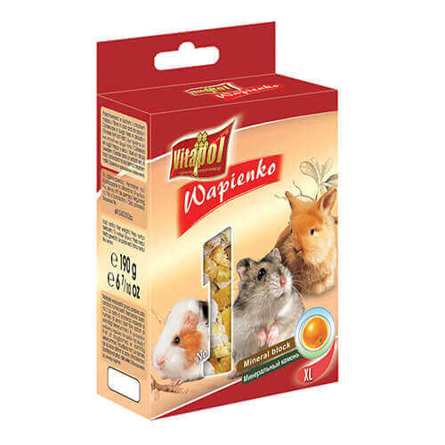 Vitapol Xl Mineral Block For Rodents  Orange - 190 Gm