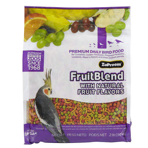 Zupreem Fruit Blend Bird Food 1Kg