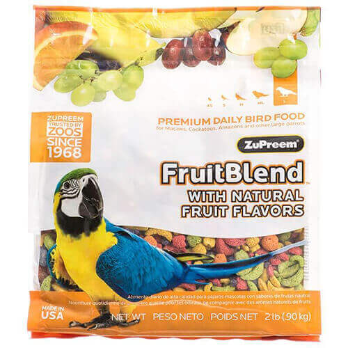 ZuPreem Fruit Blend with Natural Fruit Flavors Large 1.58 Kg