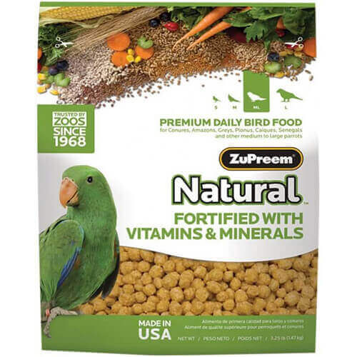 ZuPreem Natural With Added Vitamin & Minerals Medium Large 1.36 Kg